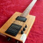 pic of a cigar box guitar with hum bucker pick-ups