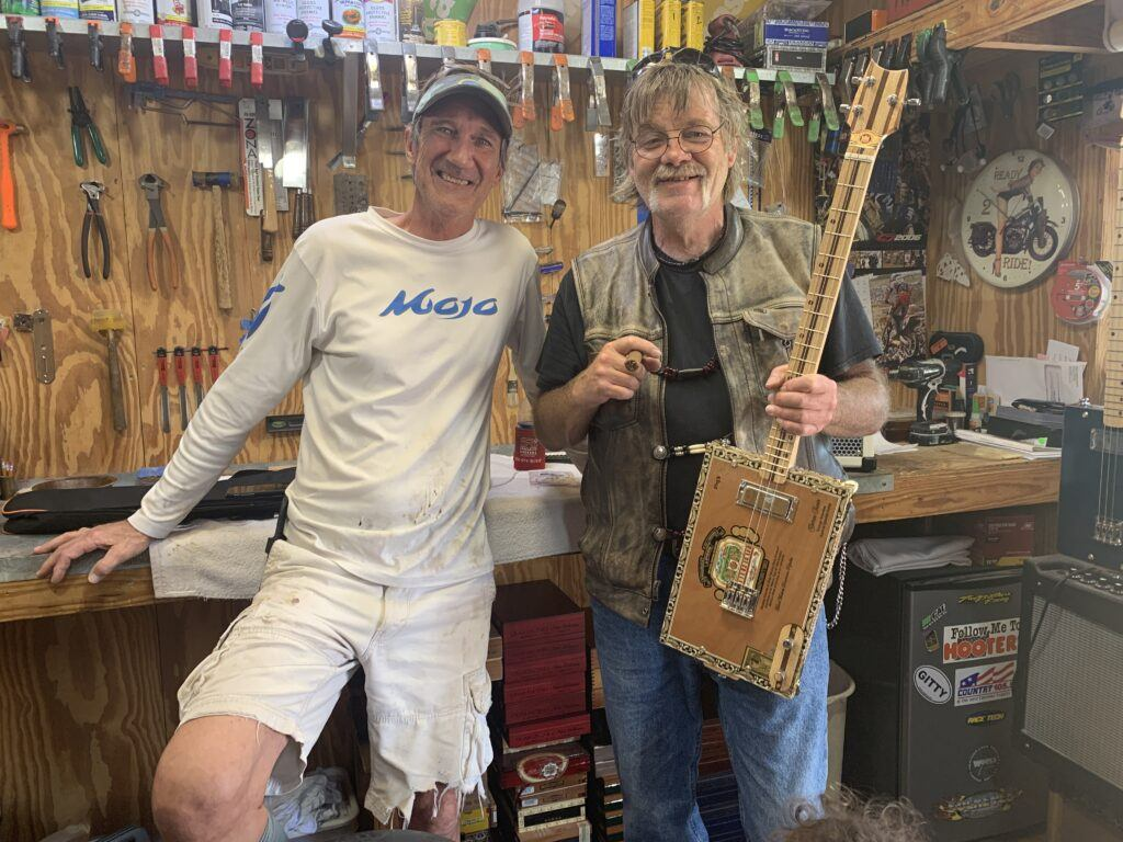 Rob and me in his shop with my King Bee